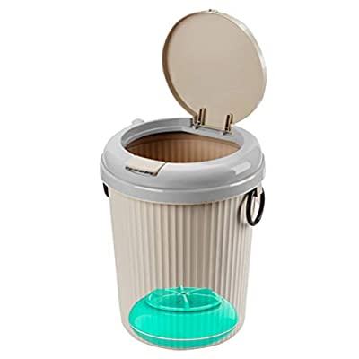 SOLUSTRE Mini Washing Machine 8 L Portable Compact Washer USB Cloth Spinner Machine for Camping Apartments Dorms College Room Desktop Use Blue