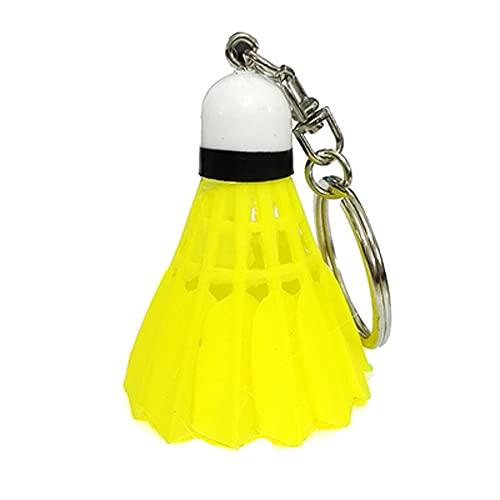Mini portachiavi da badminton colorato in PVC sport borsa portachiavi ciondolo volano badminton volano auto portachiavi (giallo)