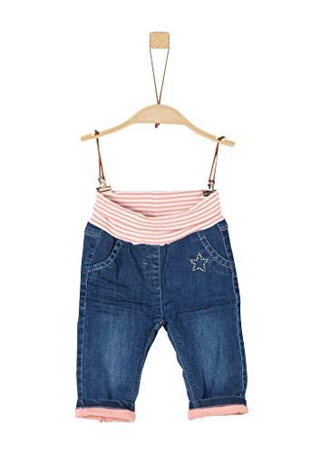 s.Oliver Baby-Mädchen 65.911.71.3505 Hose, Blau (Blue Denim Stretch 56z2), (Herstellergröße: 80)