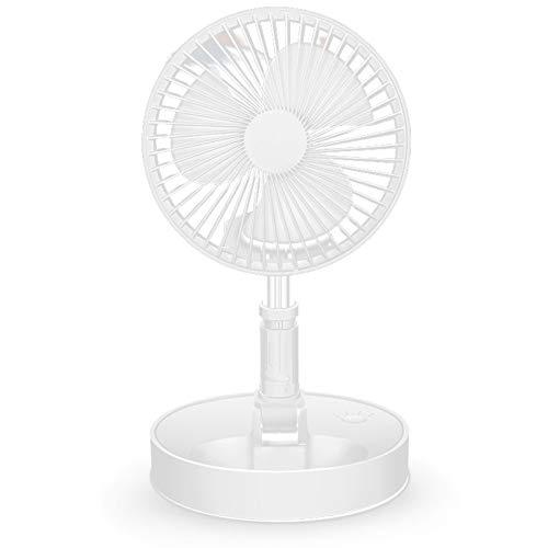 Domilay Ventilador Plegable Ventilador de Carga USB Ventiladores de CirculacióN de Aire Inicio Ventilador Silencioso de Aterrizaje de Escritorio Ventilador de Piso de Soporte de Pedestal