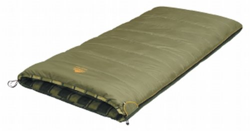 Alexika Unisex-Adult Schlafsack Siberia Wide, rechte Reißverschluss Deckenschlafsack, grün-grau/Kariertes grün-grau