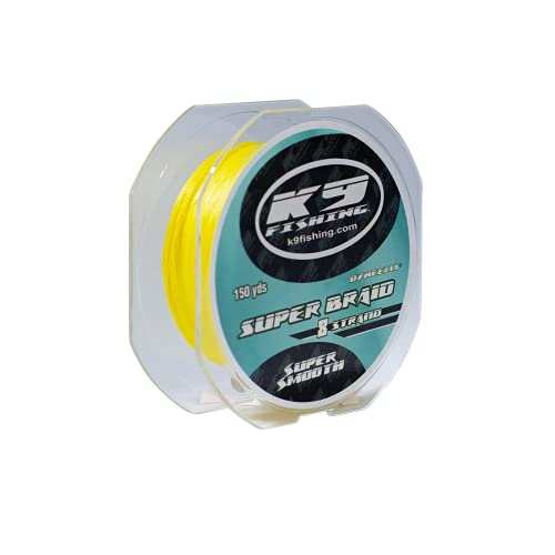 K9 150-20lb-BRP K9 Fishing Braided Pink Line 150 Yard Spool 20lb Test