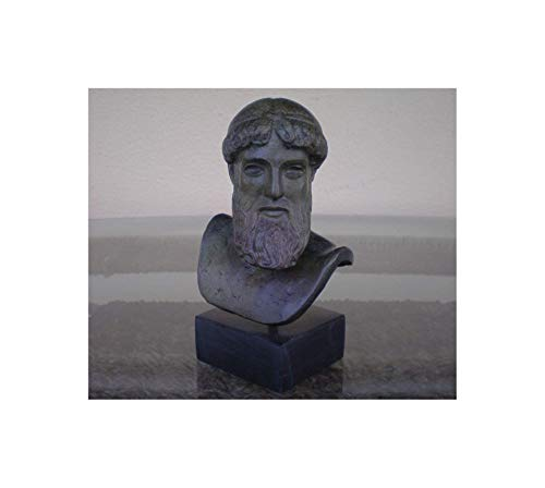 Cabeza Zeus–Poseidon Artemision Mini bronce