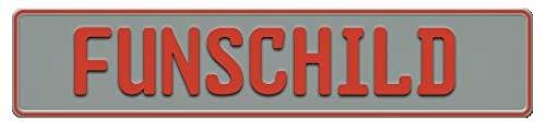 Fun Schild | Wunschkennzeichen | Namensschild | Fun Kennzeichen | 520x110 mm | viele Farben | Funschilder individuell mit Wunschtext gestaltbar für wenig Geld (Silber matt)