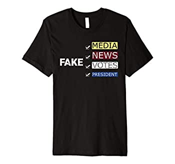 Fake Media News Votes President 2020 Dark Premium T-Shirt