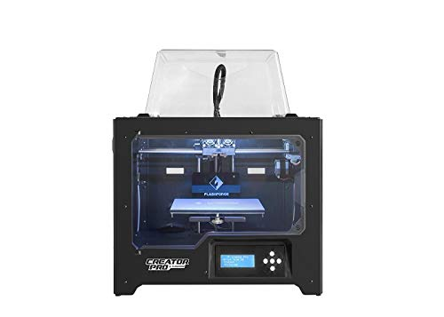 Flashforge 10745 3D Printer Creator Pro Dual Extruder Printer with Optimized Build Plate and Upgraded Spool Holder