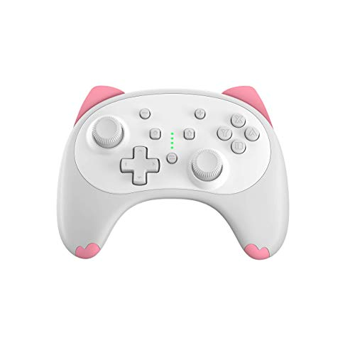 IINE Cartoon Kitten Wireless Controller for Nintendo Switch/Lite White