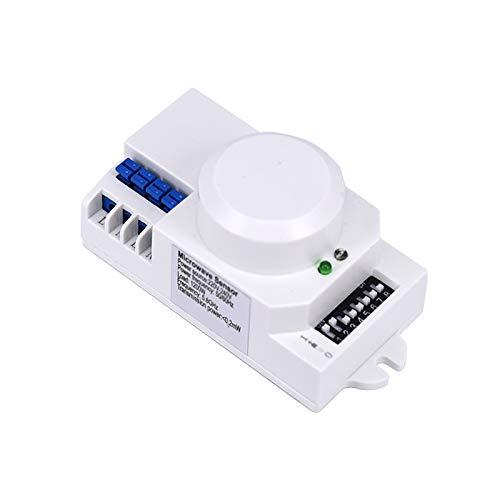 Not application Interruptor de sensor de microondas inteligente con sensor de luz de pared ignífugo de alta sensibilidad