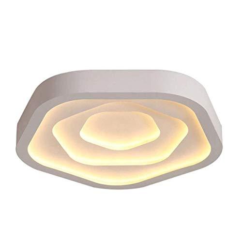 SPNEC Luz de Techo - LED Rose Techo de la Forma de la lámpara, Cubierta Flush Montaje en el Techo de la lámpara, Luces de Techo y Vuelta for un Dormitorio Baño Cocina Oficina Pasillo 52x10cm
