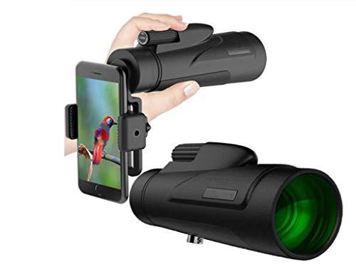 YOUBO Lente óptica monocular 12x50 telescopio de Gran Potencia Lente Gran Angular con Accesorios para teléfono móvil
