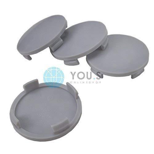 1 x Nabenkappe Nabendeckel Felgendeckel Träger Grau Aussen 60,0 mm Innen 55,0 mm ATS RIAL ALUTEC
