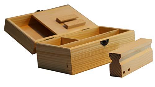 Weed-box Set. Große Joint-box aus Holz & 63mm Alu Grinder und Joint-transporthülle aus Aluminium. Kiffer-box mit Rollhilfe zur Aufbewahrung von Drehzubehör. Tabak-zubehör (Weed-Box einzeln)