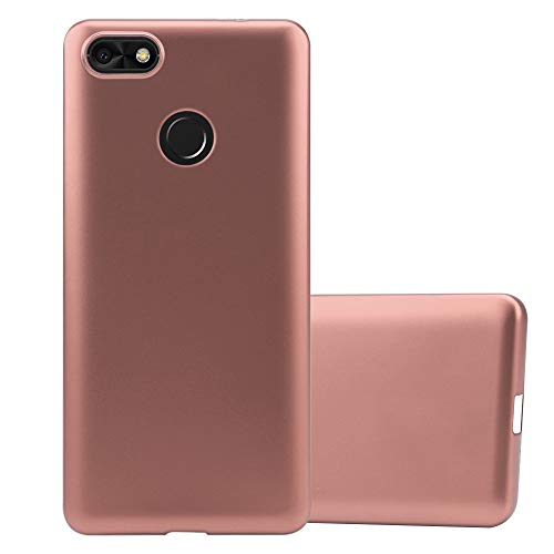 Cadorabo Hülle für Huawei Y6 PRO 2017 in METALLIC ROSÉ Gold - Handyhülle aus flexiblem TPU Silikon - Silikonhülle Schutzhülle Ultra Slim Soft Back Cover Case Bumper