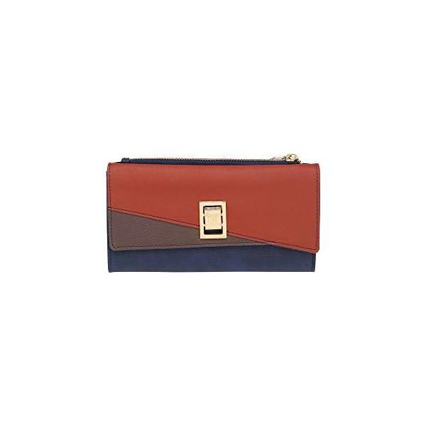 Baggit Lw Oblique Y G Women's Wallet (Blue)