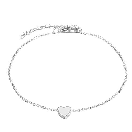 Collares Mujer Verano 1Pieza Amor Corazón Fe en amor Colgante Collares por Mujeres Y Chicas Collar Oro (Plata)