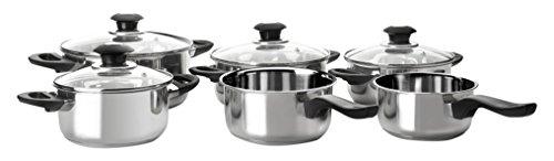 IBILI 000957batería de Cocina Acero Inoxidable Plata 46x 26x 20cm Juego de 6