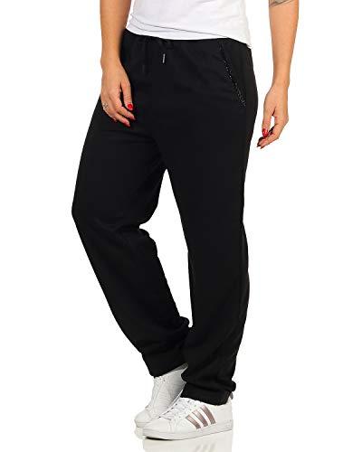 ZARMEXX Damen Relaxhose Streetwear Jogginghose Freizeithose Casual Pants Gym Yoga Trainingshose Fitness (schwarz, L)