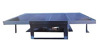 Amtrak Solar Most Powerful Roof Mount Solar Attic Fan 70 Watt Solar Panel
