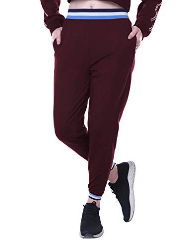 Moomaya Despojar Pantalones Cintura Basculador Elásticos W/Bolsillo Yoga Activo Sweatpant Corriendo