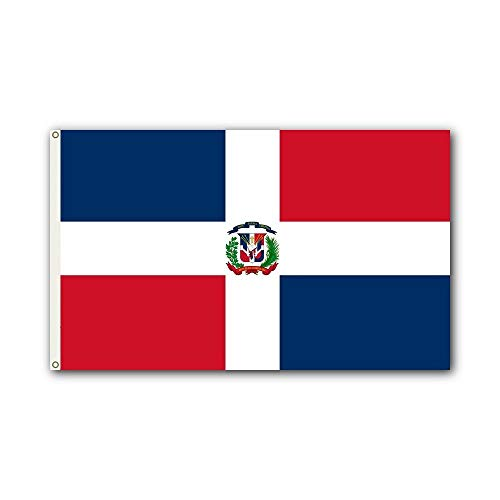 Shoe String King SSK Dominican Republic Outdoor Flag - Large 3' x 5', Weather-Resistant Polyester