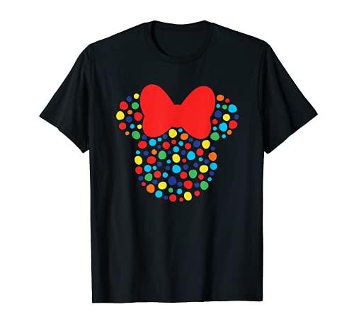 Disney Minnie Mouse Polka Dot Rainbow Camiseta