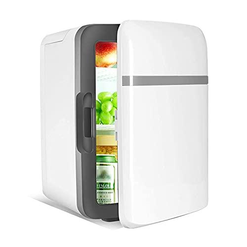 YQDSY Pequeño Refrigerador, Mini Nevera para Dormitorios Bebidas Tranquilas sin Ruido Portátil 10L Bebidas Refrigeradores Refrigeración Mínima -5 Grados Tabla de Mesa Nevera Koeling