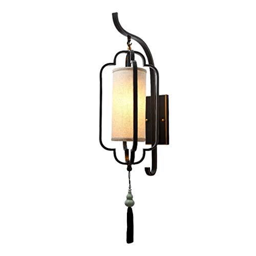 Fabax Badpak, Chinese stijl, retro wandlamp, slaapkamer, woonkamer, eetkamer, hal, trap, eenvoudige wandlamp, koper, zwart