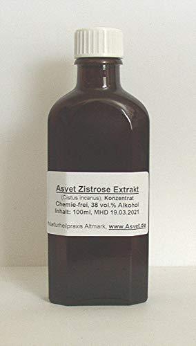 Asvet Zistrose Tropfen, 50ml Cistus incanus Extrakt, Tinktur, Ansatz 1:1, Tee Konzentrat, (GP = EUR 35,80/100ml)