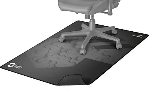 Speedlink GROUNID Floorpad - Base de Silla de Gaming, Bordes cosidos, 120 x 100cm, Negro