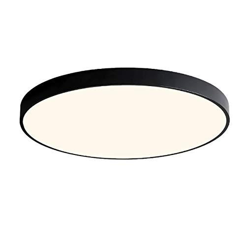 18W LED Deckenlampe 4500K Deckenleuchte rund Schwarz Durchmesser 30cm(12 inch) für Flur, Wohnzimmer, Schlafzimmer, Küche