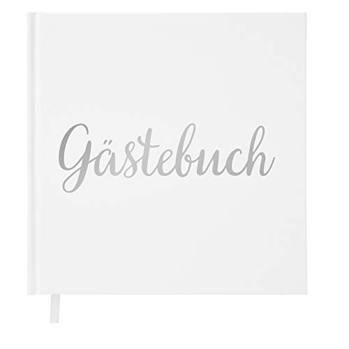 Your Perfect Day Hochzeit Gästebuch Weißbuch mit Elfenbeinband Silber Silberfolie Stanzen und...