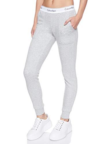 Calvin Klein Damen Bottom Pant Jogger Sporthose, Grau (Grey Heather 020), W(Herstellergröße: XS)