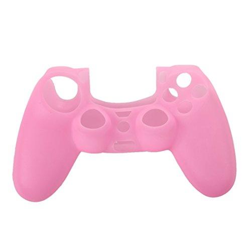 SODIAL(R) NEW Silicone Case Custodia Protettiva Rosa per PS4 Controller Joystick