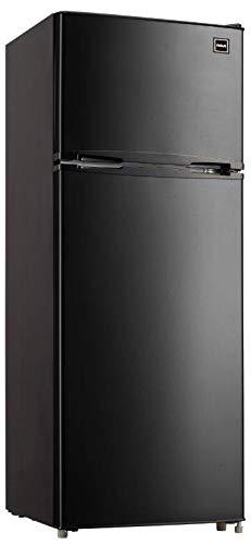 RCA RFR741-BLACK Apartment Size Large Compact Refrigerator, 7.5, Black