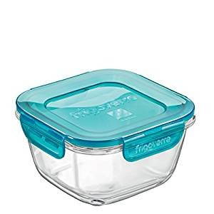 Bormioli Frigoverre Evolution - Recipiente de cristal templado para conservar el frigorífico y el congelador, 18 x 18 cm