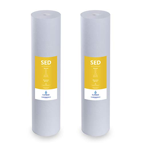 "Express Water – 2 Pack Sediment Replacement Filter – Whole House Replacement Water Filter – SED High Capacity Water Filter – 5 Micron Water Filter – 4.5"" x 20"" inch"