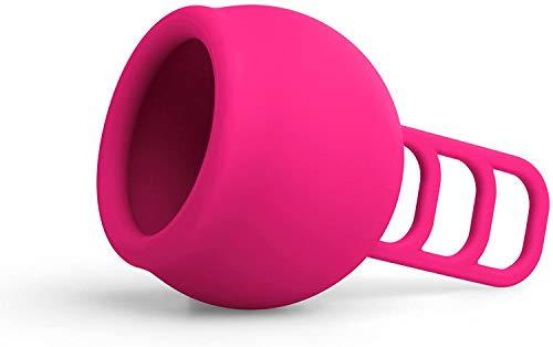 Merula Cup strawberry (pink) – One size Menstruationstasse aus medizinischem Silikon - 4