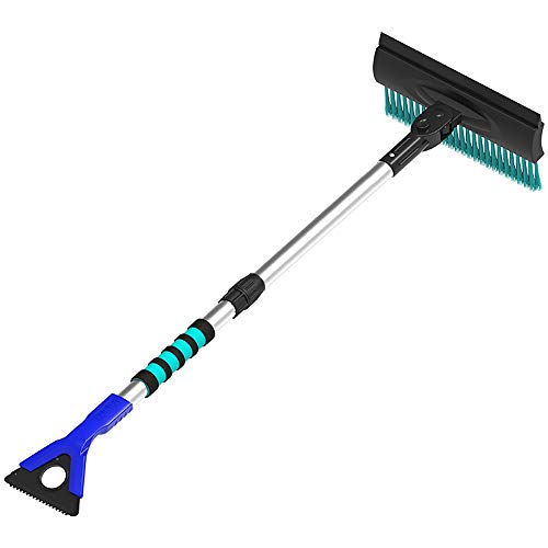 Best Price! Jajx Collapsible Snow Shovel with Snow Brush Snow Removal Artifact Multifunctional Small...