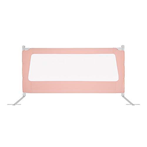 Barrières de lit LHA Garde-Corps portatif pour Nourrissons et Enfants, 1,2 M , 1,5 M, 1,8 M, 2,0 M (Couleur : Pink, Taille : L-150cm)