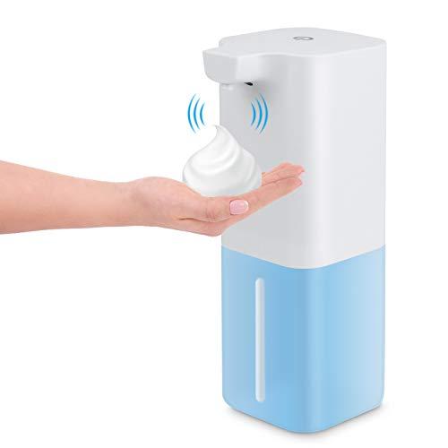 Furado Dispensador de Jabón Automático, Dosificador Cocina Dispensador de Jabón de Espuma Sensor Sin Contacto Dosificador Jabon para Baño, Cocina, Oficina, Hotel, 350ml