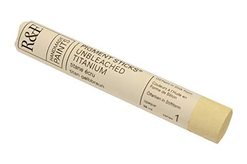 R & F : Pigment Stick (Oil Paint Bar) : 38ml : Unbleached Titanium I (211A)