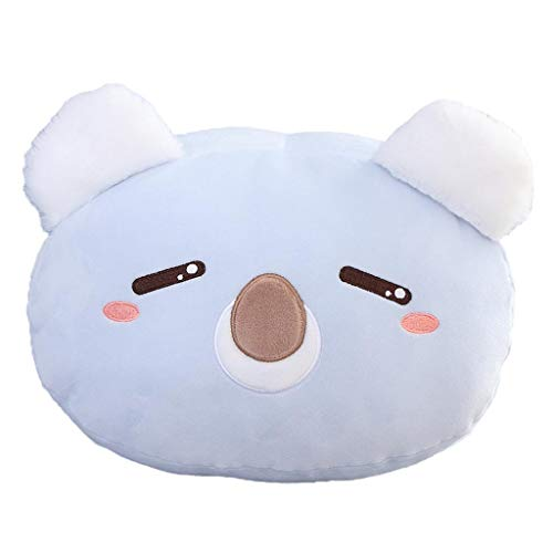 Totorowwj Peluche Giocattolo Inverno Mani Calde Due in Un Cuscino Bambola Duplice Uso Cuscino Pieghevole Ufficio Divano Pausa Pranzo Cuscino Auto Multifunzione per Studentesse,Koala