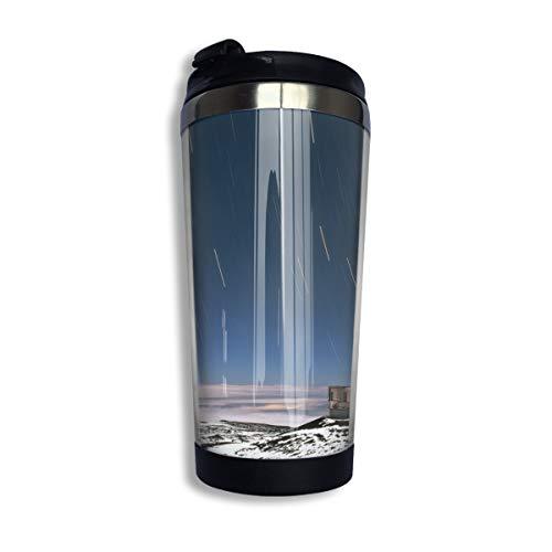 Travel Mok | 400ml | Perfect Lekvrij voor Koffie, Thee | RVS Vacuüm Geïsoleerde Beker | Licht Gewicht | Werelden Grootste Telescoop
