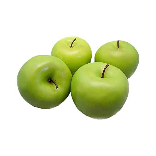Romote 4 Große künstliche grüne Äpfel Obst