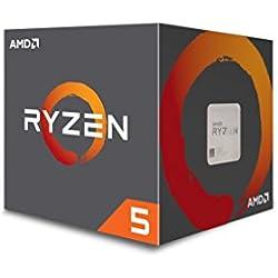 AMD YD2600BBAFBOX Processore Ryzen 5 2600 Socket AM4 3.9Ghz Max Boost, 3,4Ghz Base+19MB