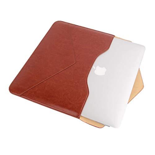 MacBookAir/Proケース13-13.3インチpcケースレザーパソコンケースマグネット開閉防水薄いカバー軽量封筒型衝撃吸収清潔が易いDell/富士通/東芝対応(オレンジ)