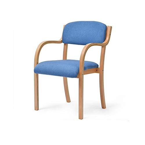 QQXX JY-041 Einfache und Moderne Baumwolle Leinen kann zusammengebaut Werden Curved Streamline Design Rückenlehne Freizeit Holzstuhl (Farbe: 3)