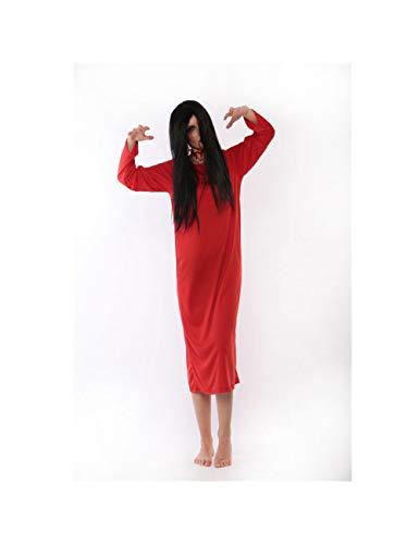 ZAOWEN Halloween Kostüm Halloween-Geist-Robe-Weiblicher Teufel-Vampir Halloween-Kostüm-Schwarzes Und Rotes Vampirs-Make-Up