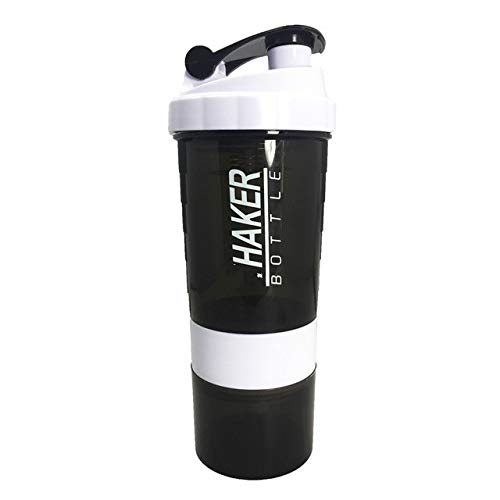 Creative Protein Powder Shaker Bottle Sports Fitness Mixing Whey Protein Water Bottle Sports Shaker for Gym Powerful Leakproof - 500ml,Red