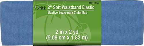 Dritz Notions Blue Elastic Soft Waistband 2', 2'